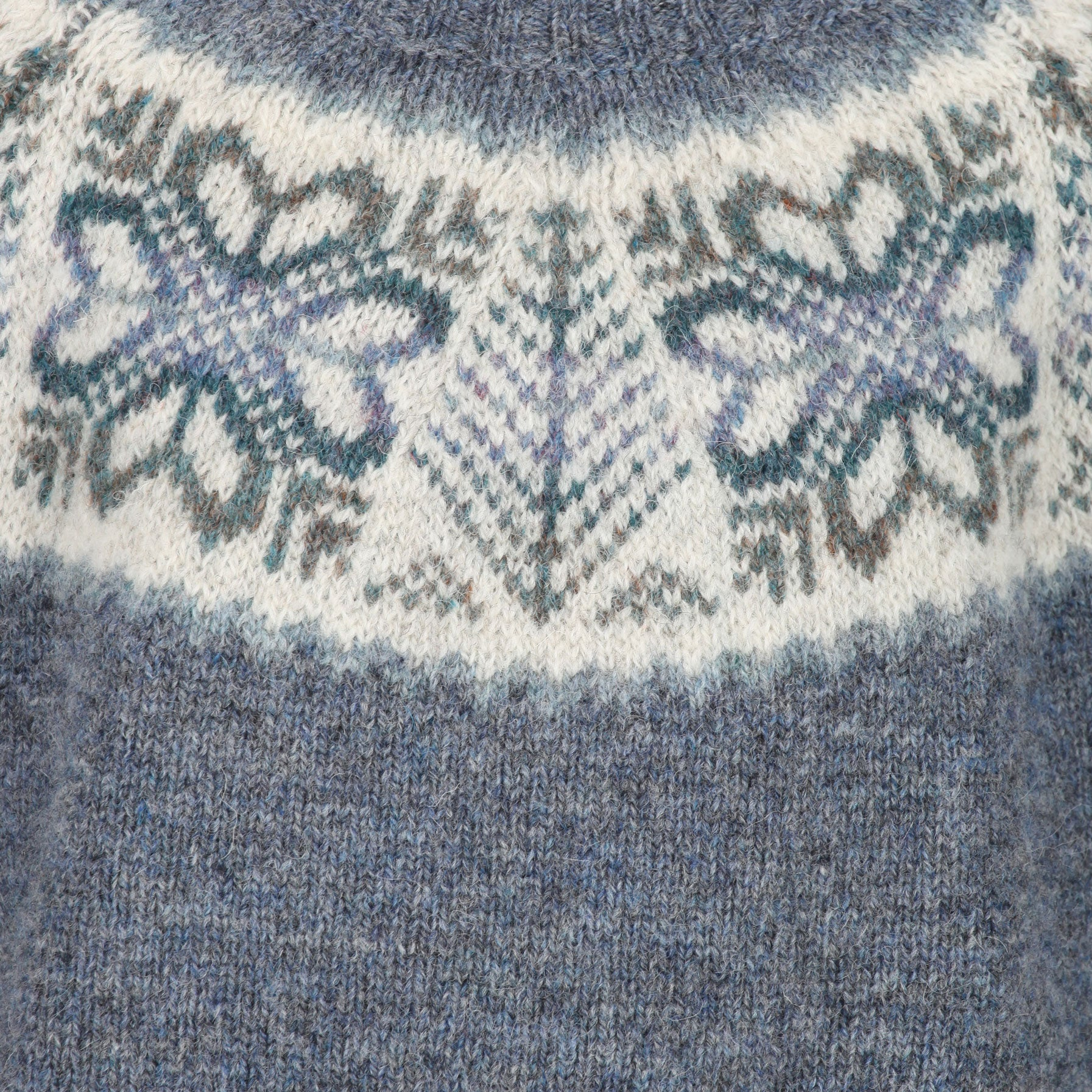 """The Pretty"" Ladies Blue Yoke Fair Isle sweater"
