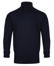 Navy Submariner polo neck sweater
