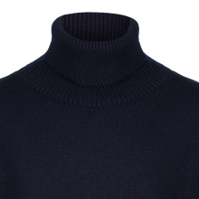 Navy roll neck sweater