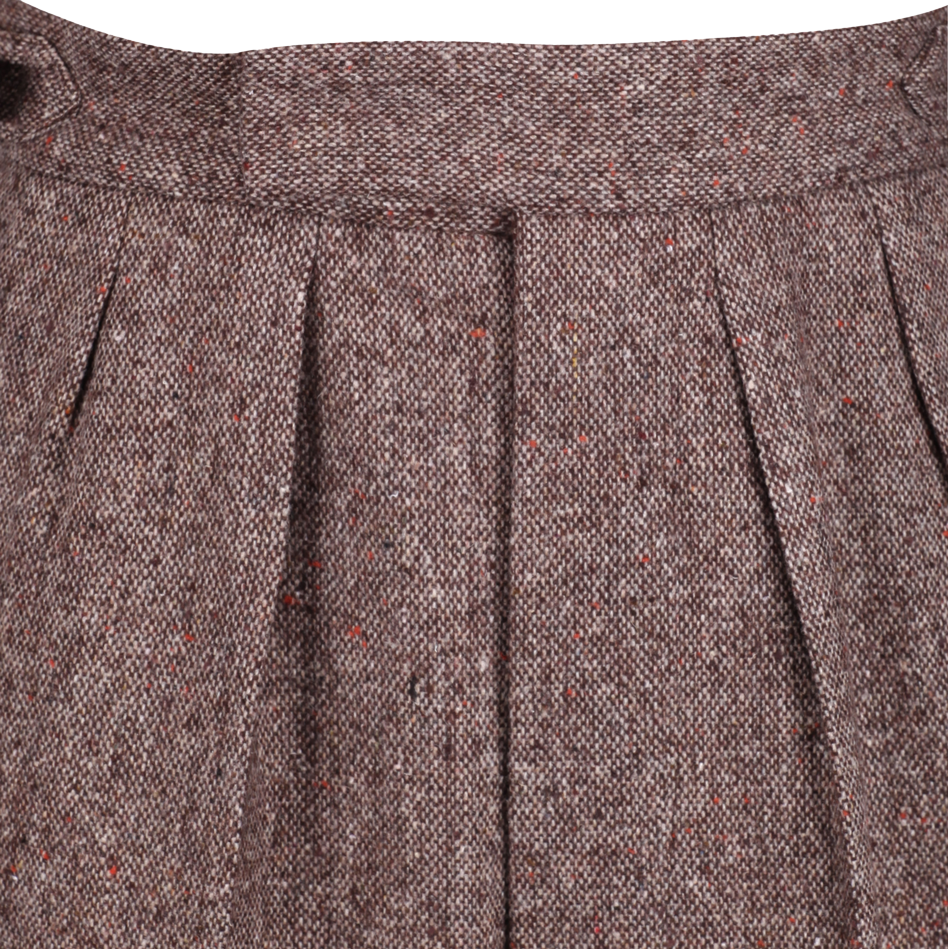 Pleated tweed trouser