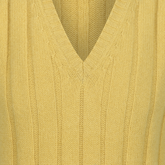 Geelong Wool Slipover in Mustard