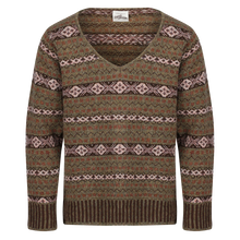 "Fair Isle ""The William"" Deep V sweater"