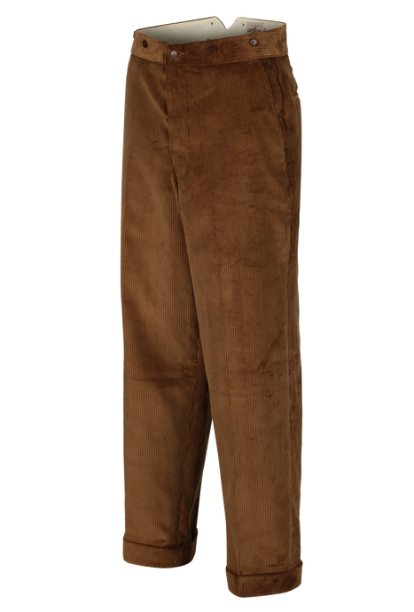 Brown Corduroy Workwear trouser