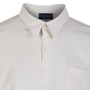 Jersey Cotton Shirt Natural - Vintage Collar