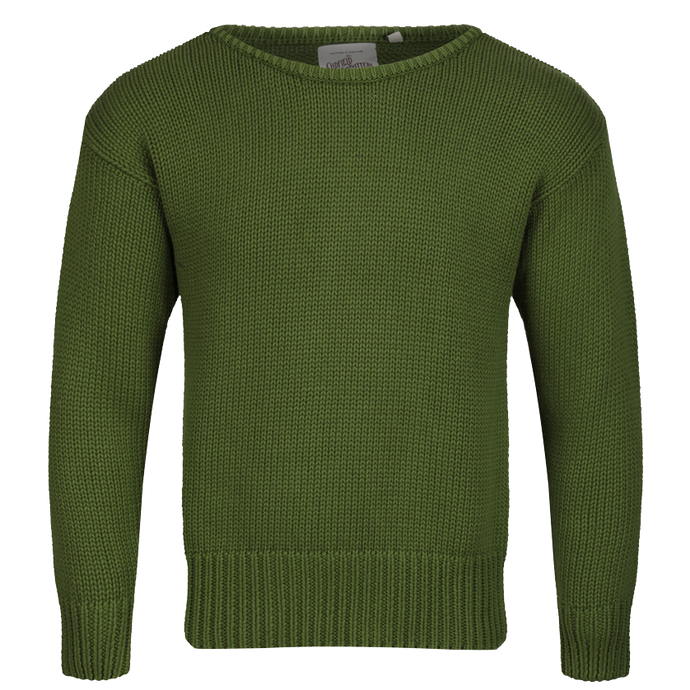 Vintage 1930s green cotton boatneck sweater by Oldfield Clothing