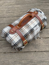 Picnic Blanket with leather blanket straps