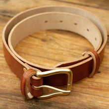 Hand crafted leather belt made in England