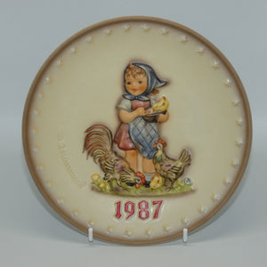 HUM0283 MI Hummel Annual Plate 1987 Feeding Time