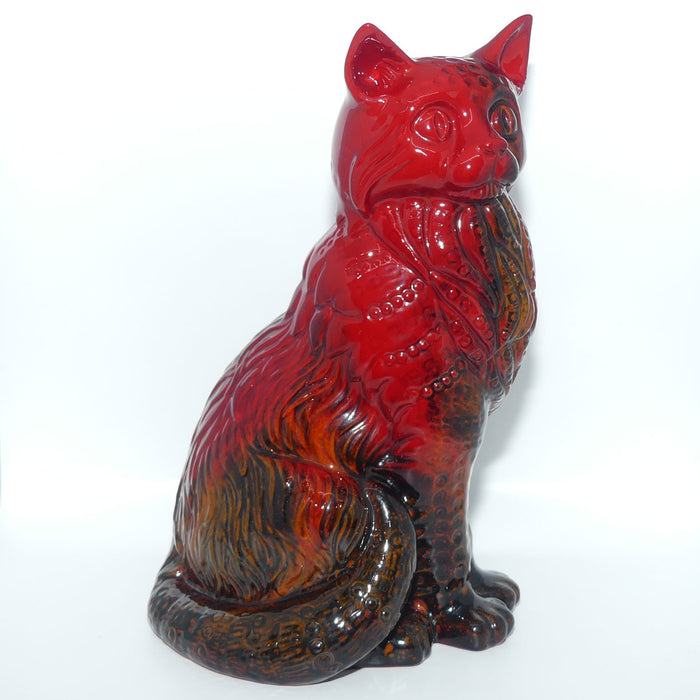 #2269 Royal Doulton Flambe Cat, Seated (Style Two)