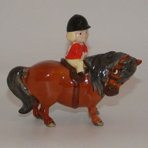 #2704B Beswick Thelwell An Angel on Horseback (Brown)