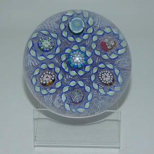 John Deacons Scotland 7 Ring Torsade on Lace Magnum paperweight (Lilac)