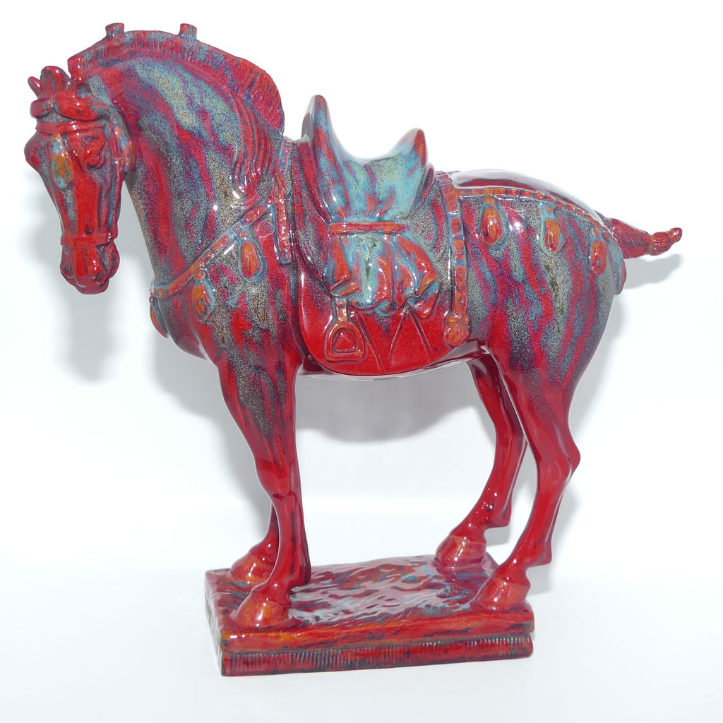 BA25 Royal Doulton Flambe Burslem Artwares Tang Horse