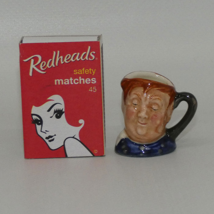 D6142 Royal Doulton tiny character jug Fat Boy