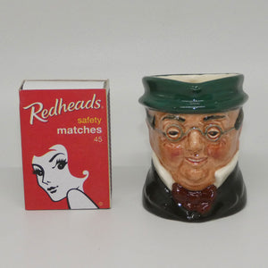 D6254 Royal Doulton miniature character jug Mr Pickwick