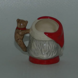D7060 Royal Doulton tiny character jug Santa Claus | Teddy Bear handle
