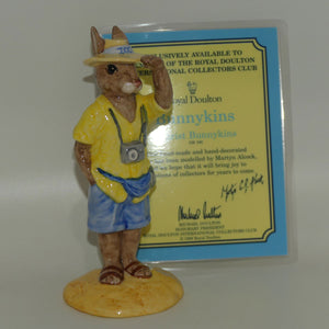 DB190 Royal Doulton Bunnykins Tourist (boxed)