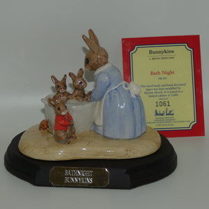 DB241 Royal Doulton Bunnykins Bath Night Tableau