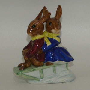 DB004 Royal Doulton Bunnykins Billie & Buntie Sleigh Ride (boxed)