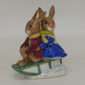 DB004 Royal Doulton Bunnykins Billie & Buntie Sleigh Ride (no box)