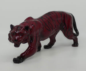 HN1082 Royal Doulton Flambe figure Stalking Tiger (Extra Large)
