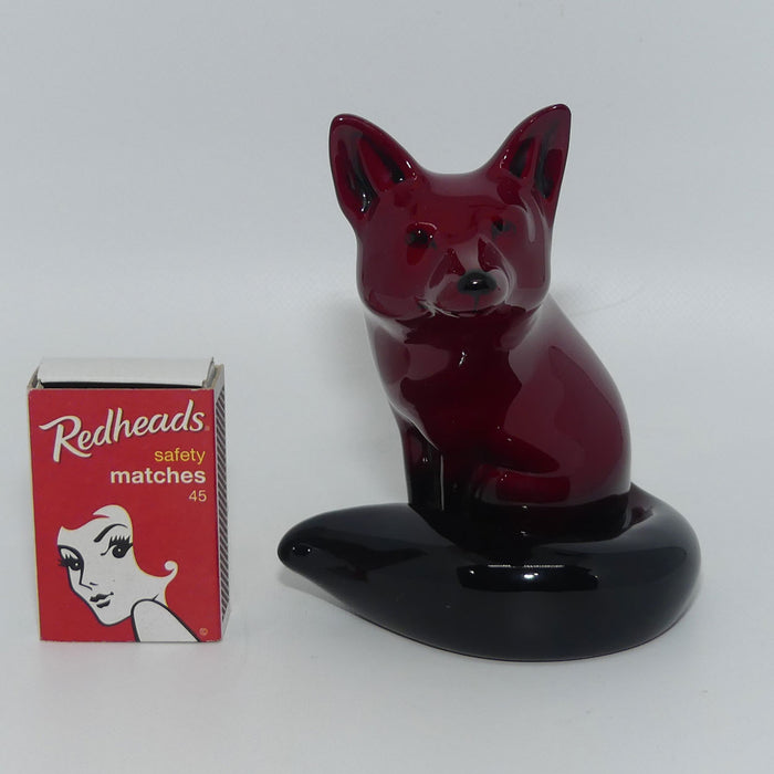 HN147B Royal Doulton Flambe Seated Fox (Small)