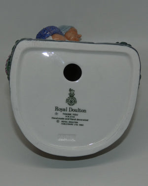 HN2732 Royal Doulton figure Thank You