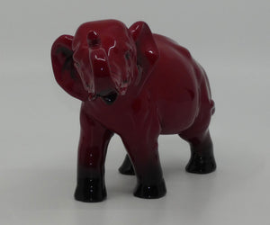 HN0891B Royal Doulton Flambe figure Elephant, Trunk in salute (Small)