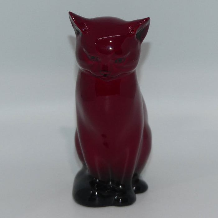 HN967 Royal Doulton Flambe Seated Cat