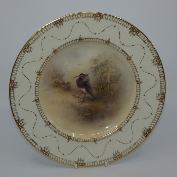 Royal Worcester hand painted Game Birds Ruff plate (JAS Stinton)