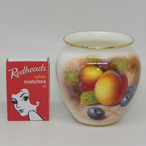 Royal Worcester hand painted and gilt Fruit pot (Maybury)