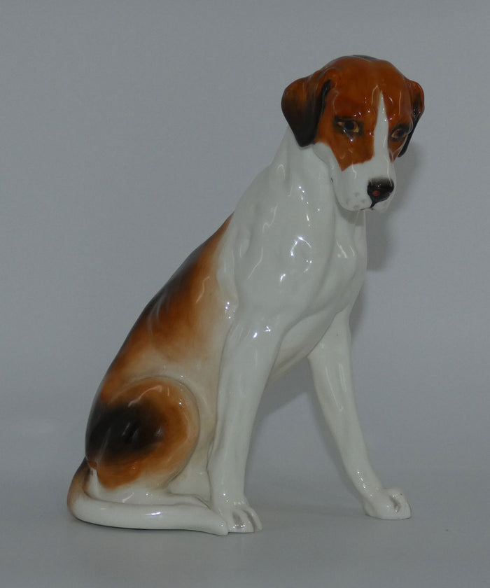 RW2994 Royal Worcester figure Hound (Seated)