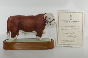 RW3668 Royal Worcester figure Hereford Bull 'Vern Inspiration'
