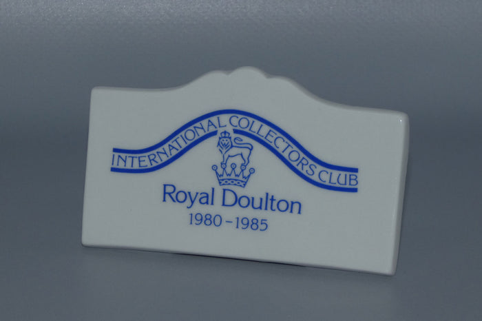 A Royal Doulton figurine Collectors Club display plaque