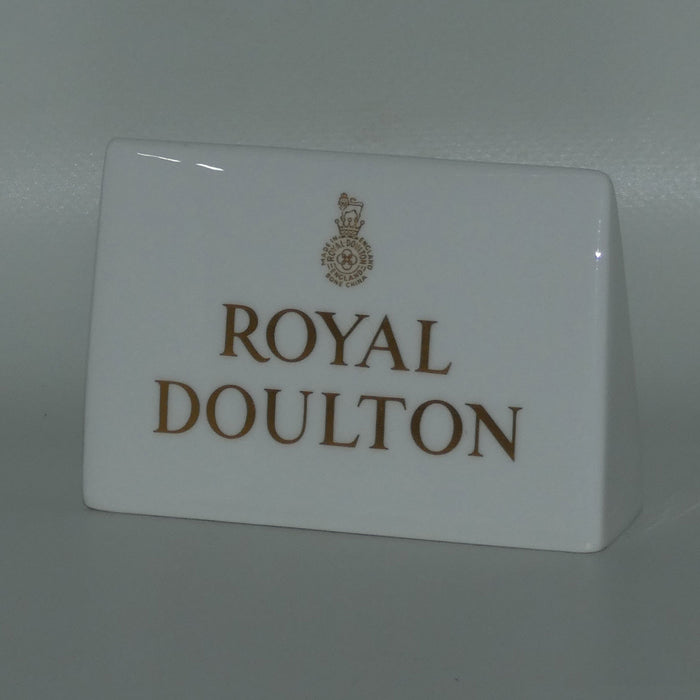 A Royal Doulton figurine collectors display plaque