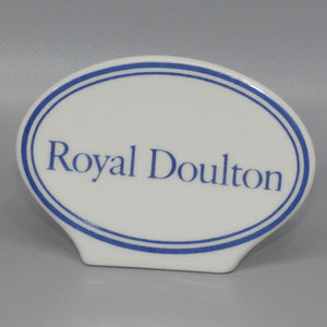 A Royal Doulton character figure oval display plaque
