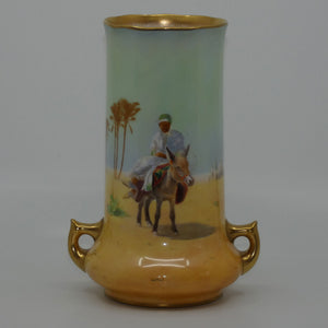 Royal Doulton hand painted & gilt Middle East Desert Scenes handled vase (Allen)