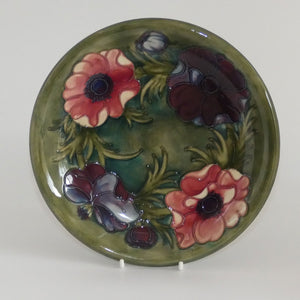 Walter Moorcroft Anemone (Green) plate