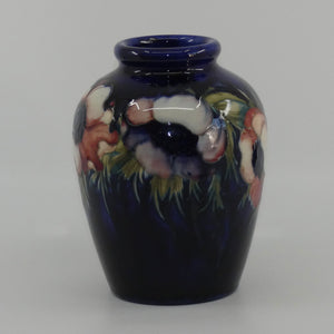 William Moorcroft Anemone bulbous blue vase #1