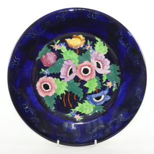 Maling plate Anemone Embossed Blue 6535