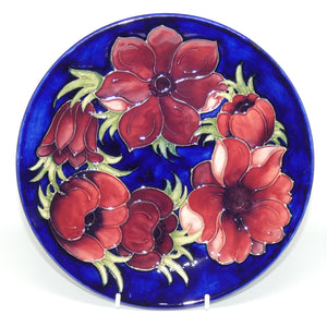 Walter Moorcroft Anemone (Blue) plate