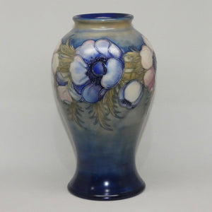 William Moorcroft Anemone Saltglaze reverse bulbous vase