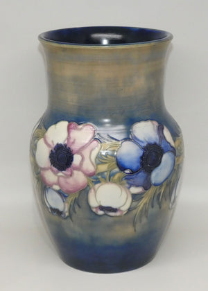 William Moorcroft Anemone Saltglaze waisted vase