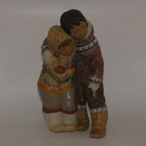 Lladro figure Couple from the Arctic (Gres)