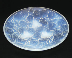 Arrers France Art Deco Opalescent Hazelnut and Leaves shallow bowl