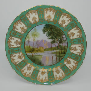 Royal Doulton hand painted & gilt Hawkesbury River plate (Belford)