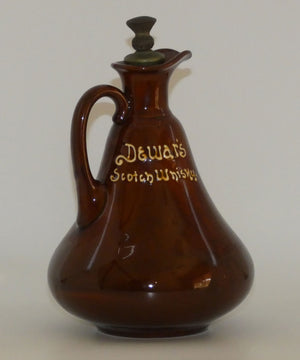 Royal Doulton Kingsware DEWARS flask Ben Jonson + stopper