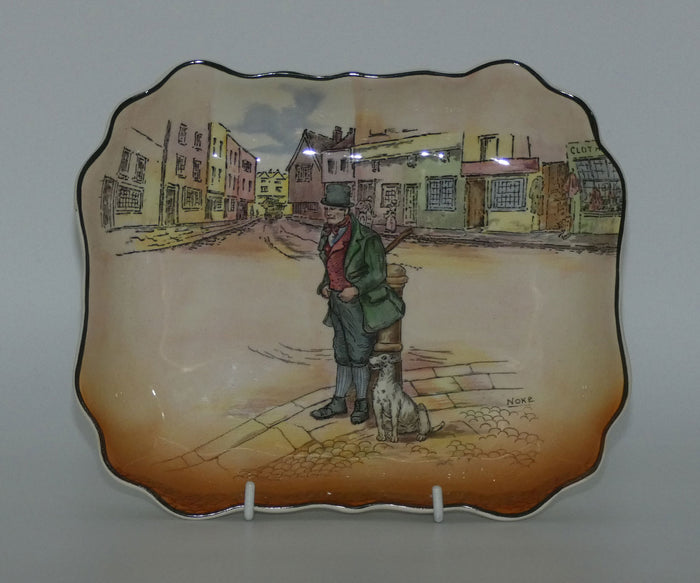 Royal Doulton Dickens Bill Sykes rectangular dish D6323