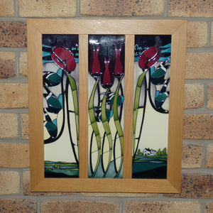 Moorcroft Blackwell triptych wall plaque