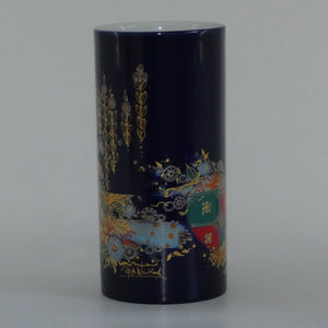 Rosenthal Bjorn Wiinblad Men with Birds and Lute cylindrical vase