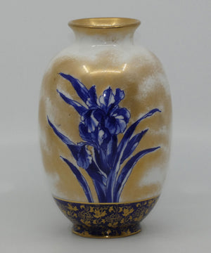 Royal Doulton Blue Iris small bulbous vase